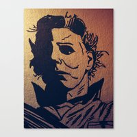 michael myers Canvas Prints featuring Michael Myers by MSG Imaging