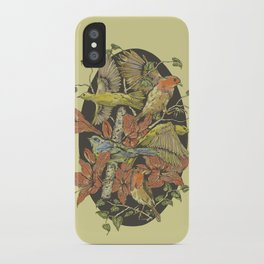 Robins and Warblers iPhone Case