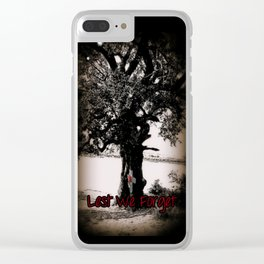 Remembrance Tree Clear iPhone Case