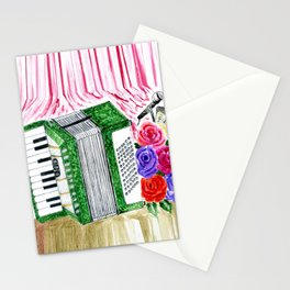 Accordion with roses Stationery Cards