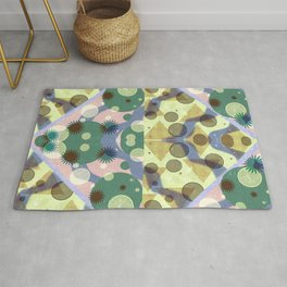 Geometric Suns and Pyramids Cubed Rug