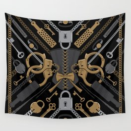 S&M Scarf Print Wall Tapestry
