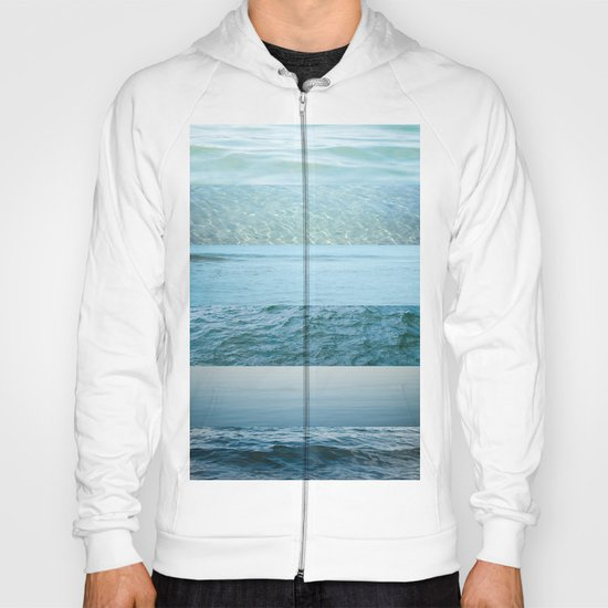 Water Study abstract blue waves Hoody