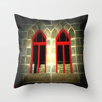 medieval Throw Pillows featuring Medieval Windows by Chris' Landscape Images & Designs