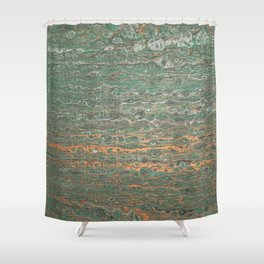 fluid coppered teal Shower Curtain
