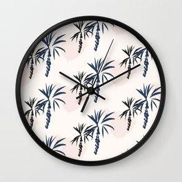 Double palm pattern Wall Clock