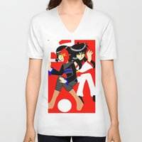 hetalia V-neck T-shirts featuring conflicted sins, akihabara and tokyo by tabby