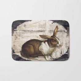 Vintage French Farm Sign Rabbit Bath Mat
