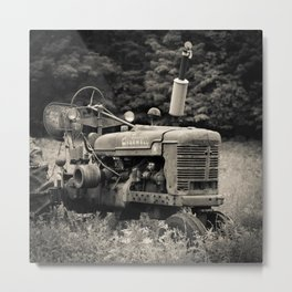 Old Vintage Farm Tractor Metal Print