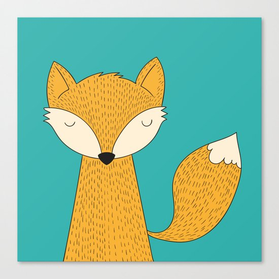 The Fox is back Canvas Print