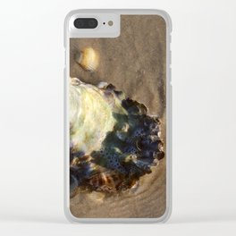 Shells in the sand 1 Clear iPhone Case