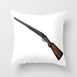 Shotgun Illustration Throw Pillow
