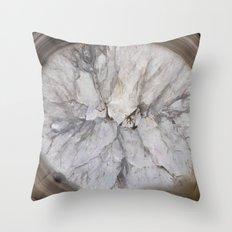 Crystal geode Throw Pillow