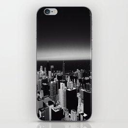 Black and White Chicago Skyline iPhone Skin