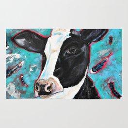 Cow in the Garden Rug