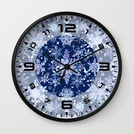 Snowflakes #3 Wall Clock