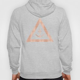 Anchor Rose Gold on Black Hoody