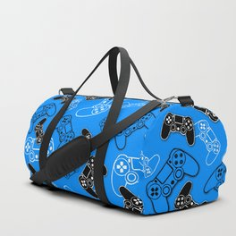 Video Games Blue Duffle Bag