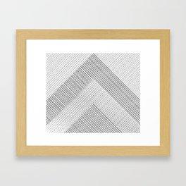 Stripe Geometric Mountain Framed Art Print