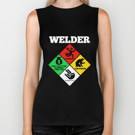 Weld Diamond - Life Welder Flammable Welder T-Shirts Biker Tank