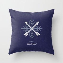 Winter Wanderlust (blue) Throw Pillow