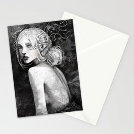 Lavellan black and white Stationery Cards