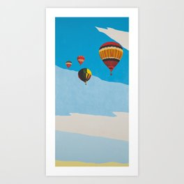 Four Hot Air Balloons Art Print