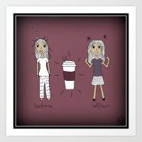 Coffee Power Art Print