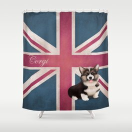 Royal Corgi Baby Shower Curtain