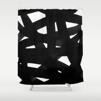 georgiana paraschiv Shower Curtains featuring TX02 by Georgiana Paraschiv