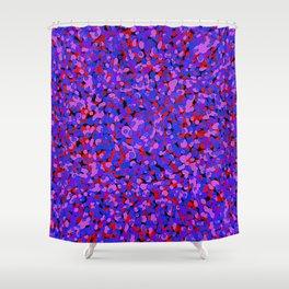 blobs on black 2 Shower Curtain