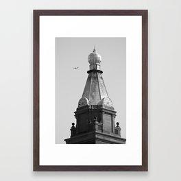 Fly By (BW) Framed Art Print