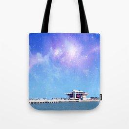 Space Pier Tote Bag