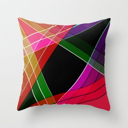 Colored silk Throw Pillow