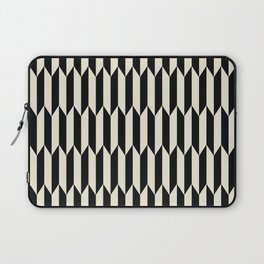 BW Oddities I - Black and White Mid Century Modern Geometric Abstract Laptop Sleeve
