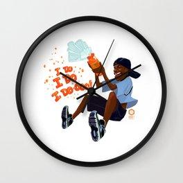 Kel Loves Orange Soda Wall Clock