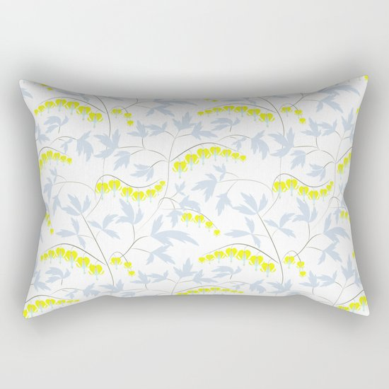 Floral pattern in yellow, blue, bright tone . Rectangular Pillow