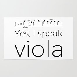 I speak viola Rug