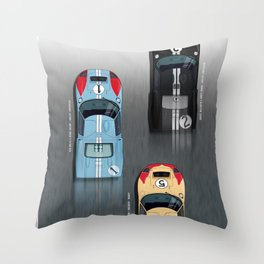 GT40 Le Mans 1966, Finish side by side Throw Pillow