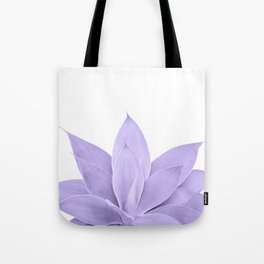 Ultra Violet Agave on White #1 #tropical #decor #art #society6 Tote Bag