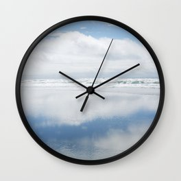 Two Blue Skies Wall Clock