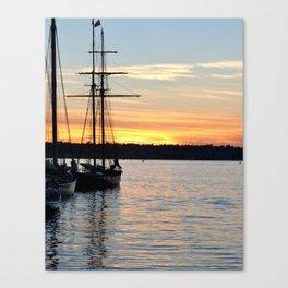 SHIPS AT SUNSET Canvas Print