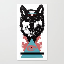 Hipster Wolf Canvas Print