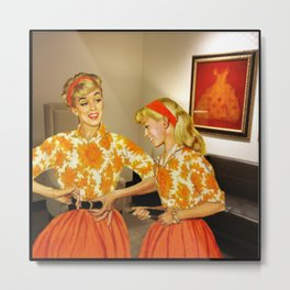 Daughter and Her Narcissistic Mother Metal Print