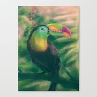 tropical Canvas Prints featuring Tropical by Ben Geiger