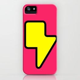 Lightning Logo Print iPhone Case