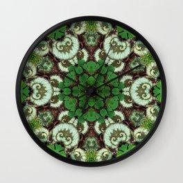 Botanical mandala - Begonia rex Escargot II Wall Clock