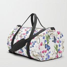 Wild Flowers Field Duffle Bag