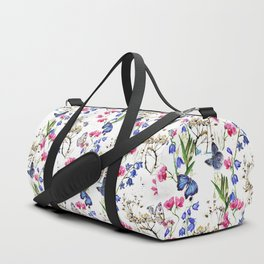 Wild Flowers Field Duffle Bag