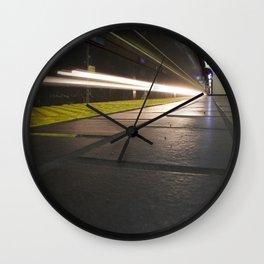 Motion Blur Granville Skytrain 2 Wall Clock